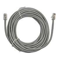24Ft. CAT5e Gray Ethernet Patch Cable - NON-BOOTED